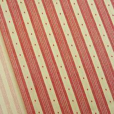 Petite Wovens ~ Rouge Noel Stripe fabric / quilting antique red Christmas mini