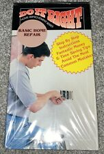DO IT RIGHT-HOME IMPROVEMENT SERIES Basic Home Repair, Vintage 1994 VHS Tape