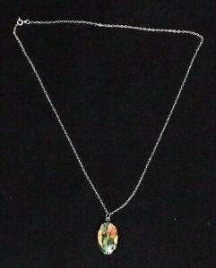 Heathergems Pendant on silver necklace Made in Scotland Scottish Heather
