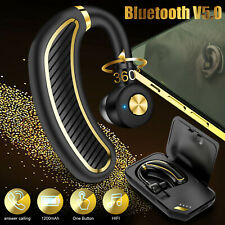 New listing Trucker Wireless Bluetooth 5.0 Earpiece Headsets Stereo Earbud Noise Cancelling