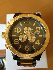 NIXON watch 51-30 CHRONO GOLD Gunmetal A083-595 A083595  free shipping