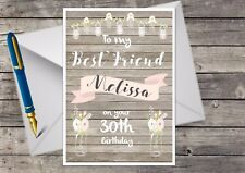 Personalised Best Friend, 30th, 40th, 50th, 21st, 60th, Birthday Card A5