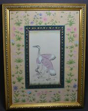 HAND PAINTED  CHINESE WATERCOLOR PAINTING CRANES ~ 10'' x 13''