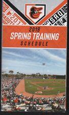 Baltimore Orioles 2019 Spring Training Pocket Schedule