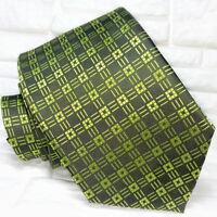 Krawatte seide Grün auf Grün Jacquard Made in Italy Morgana marke UVP € 38