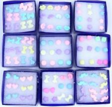 Candy Resin Plastic Stick Stud Earrings Fashion Jewelry 60 pairs / lot