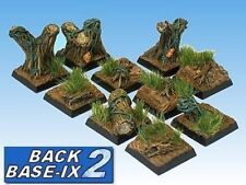 20mm Resin Scenic Bases (10) Square Forest Warhammer