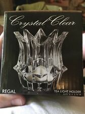 Regal Crystal Clear Tea Light Holder