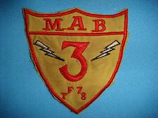 VIETNAM WAR PATCH, USMC 3rd MARINE AMPHIBIOUS BRIGADE TASK FORCE 78