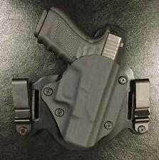 Glock 20/21 IWB/OWB Morph Hybrid Holster, Black Kydex, leather, RH Fits G 20/21