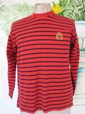 Ralph Lauren Sweater Red w/ Blue Stripes Size M vintage