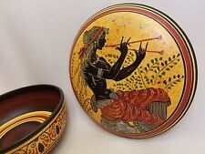 Auletris Greek Mythology Rare Hellenic Ancient Art Pottery Jewelry Case