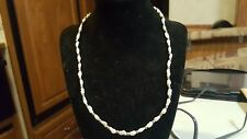 "Fresh Water Pearls With 14K Gold Beads & Clasp Necklace, 20"" long"