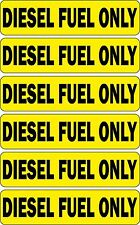Set 6x sticker decal car rent helmet door bumper macbook laptop diesel fuel only