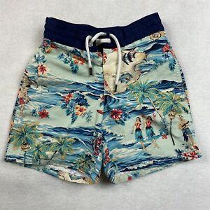 Ralph Lauren Polo Boys Swim Trunks Shorts Size 4T Hawaiian