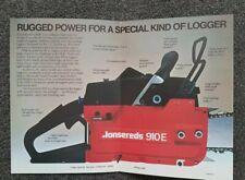 Jonsereds 910E chainsaw advertising brochure nos