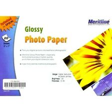 """80 Glossy Photo Paper 5"""" x 7"""" for Laser Printer Brightness100 for EPSON USA SELL"""