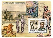 DAVID LIVINGSTONE Africa Explorer & Missionary Stamp Sheet 2 (2008 Comoros)