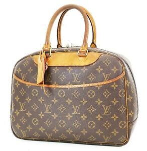 Authentic LOUIS VUITTON Deauville Monogram Hand Bag Purse #37281