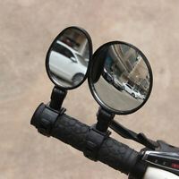 2Pcs Bicycle Mirror Handlebar Rearview Mirror Wide Angle 360 degree Rot.FR