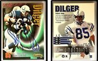 Ken Dilger Signed 1998 SkyBox Thunder #22 Card Indianapolis Colts Auto Autograph
