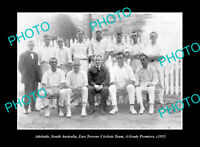 OLD POSTCARD SIZE PHOTO ADELAIDE SOUTH AUSTRALIA EAST TORRENS CRICKET TEAM 1921