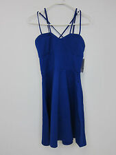 Just Fab Fit & Flare Multi Strap Dress - Womens Medium - Ultra Blue - NWT