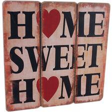 Shabby Chic-Home Sweet Home-ASSE DI LEGNO PLACCA muro in legno Segno