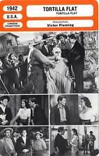 FICHE CINEMA : TORTILLA FLAT - Tracy,Lamarr,Garfield,Fleming 1942