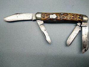 Antique REMINGTON pattern R3883 four-blade dogleg, dated 1926