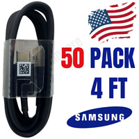 Wholesale 50X Lot Samsung Galaxy S20 S10 S9 Fast USB C Type C Charger Cable Cord