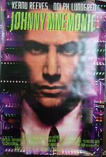 Johnny Mnemonic Original Single Sided Movie Poster Keanu Reeves Dina Meyers 1995