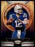 2019 CERTIFIED SEAL OF APPROVAL ANDREW LUCK INDIANAPOLIS COLTS #SA-AL INSERT