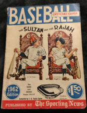 1962 Official BASEBALL Guide, The Sporting News BABE RUTH & ROGER MARIS HOF