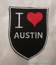 Embroidered Retro Vintage Style I Love Austin TX Texas State Pride Patch Iron On