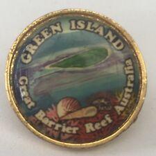 Metal Souvenir Badge/Pin - Green Island Great Barrier Reef Queensland QLD