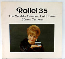 """Orig. Rollei 35 Sales Brochure, """"The World's Smallest Full Frame 35mm Camera"""""""