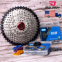 BOLANY 8/9/10/11S Chain MTB Bike 11-40/42/46/50 Cassette Cycling Sprocket Chain