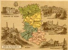 Carte Géographique Tourisme Descriptif verso Illustrations