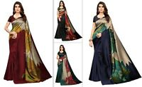 Saree Designer Indian Sari Pakistani Wear Silk Wedding Silk Blouse Party New VV