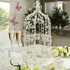 JEWELLED/BEADED 6 TEALIGHT HOLDER BIRDCAGE/WEDDING CENTREPIECE/TABLE DECORATION