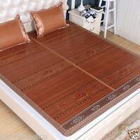 Bamboo bed mat for summer air conditioning mat cool sleeping mat folding queen