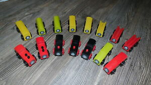 Excellent Group of IKEA 82-Piece Wooden Trains w/Tracks, Bridge, Ramps and Cars