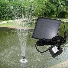 Solar Water Pump Power Panel Kit Fountain Pool Garden Pond Submersible Black  WT