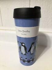 New Vera Bradley Travel Mug PENGUINS Blue 16 oz