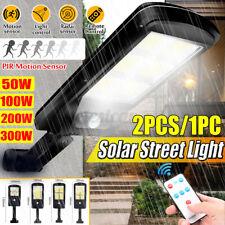 50/100/200/300W Remote COB Solar Street Light Radar PIR Motion Sensor Wall Lamp