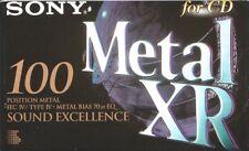 SONY METAL XR 100 METAL POSITION IEC IV/TYPE IV BLANK AUDIO CASSETTE TAPE - 1995