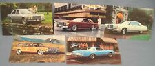 5 NOS 1978 Chrysler & Plymouth Unused Dealer Post Cards.