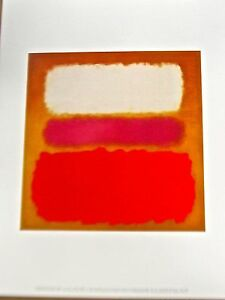 Mark Rothko Poster White Cloud Over Purple 14X11 Unsigned Offset Lithograph