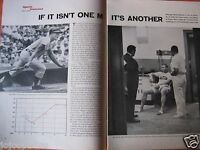 "1963 Mickey Mantle Article & Pic-8.5 x 10.5""-New York Yankees-4 PAGE-Roger Maris"